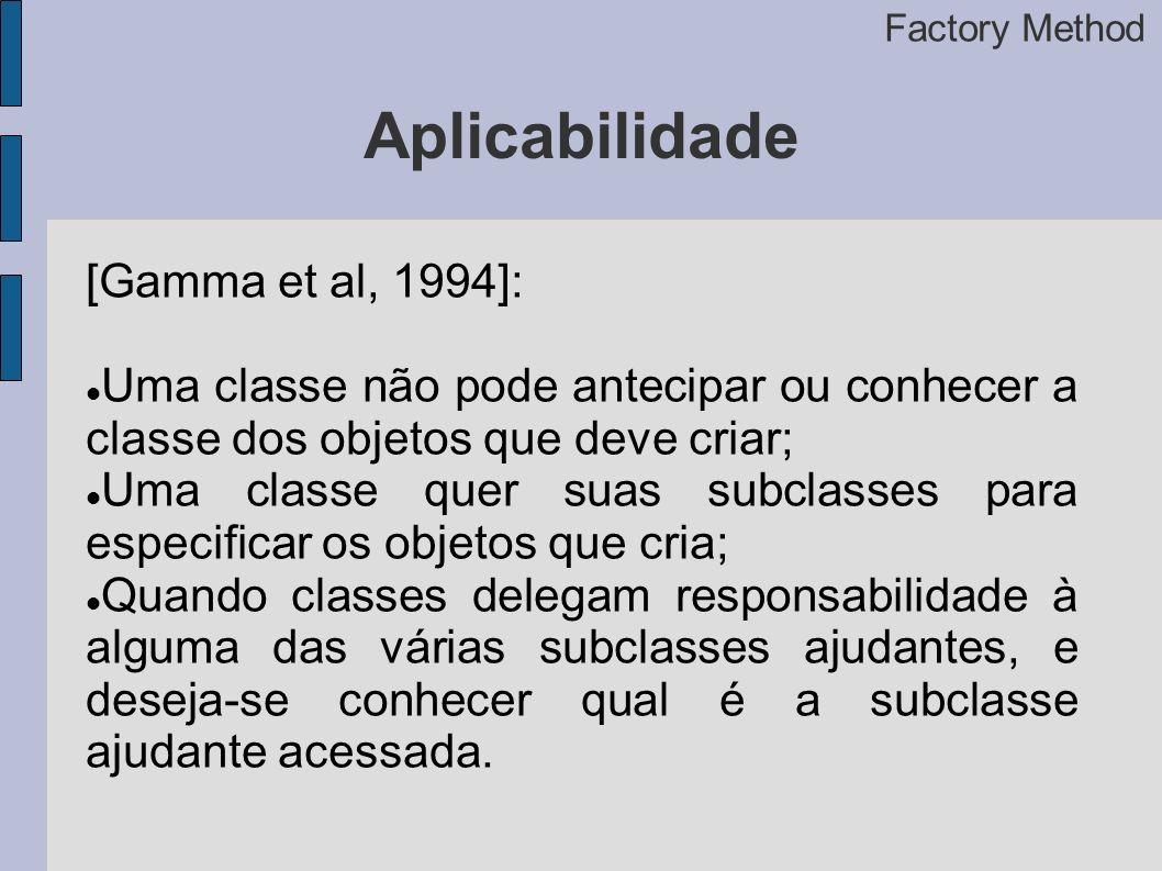 Aplicabilidade [Gamma et al, 1994]: